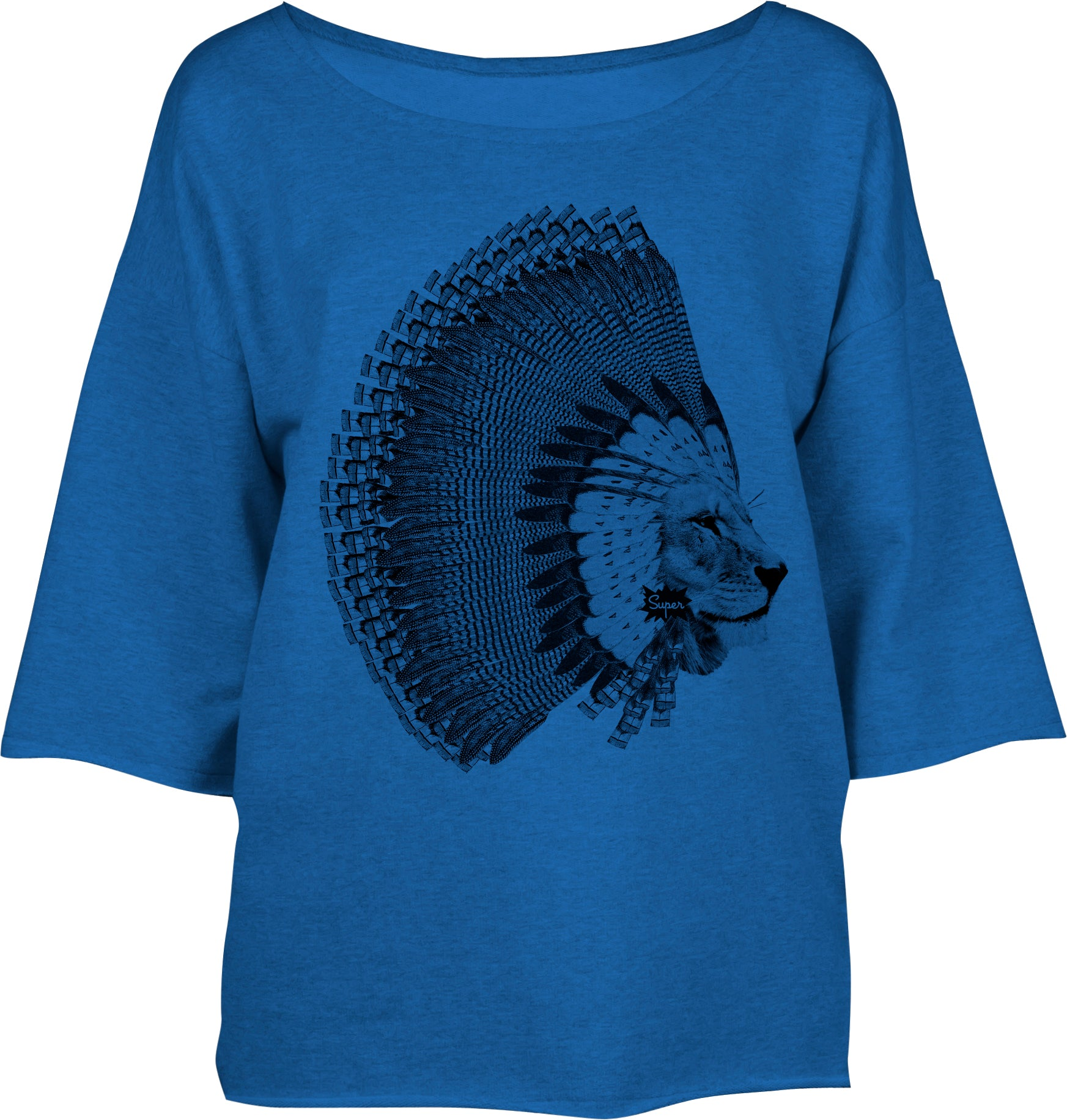 Sweat Ample Lion-Plume Bleu
