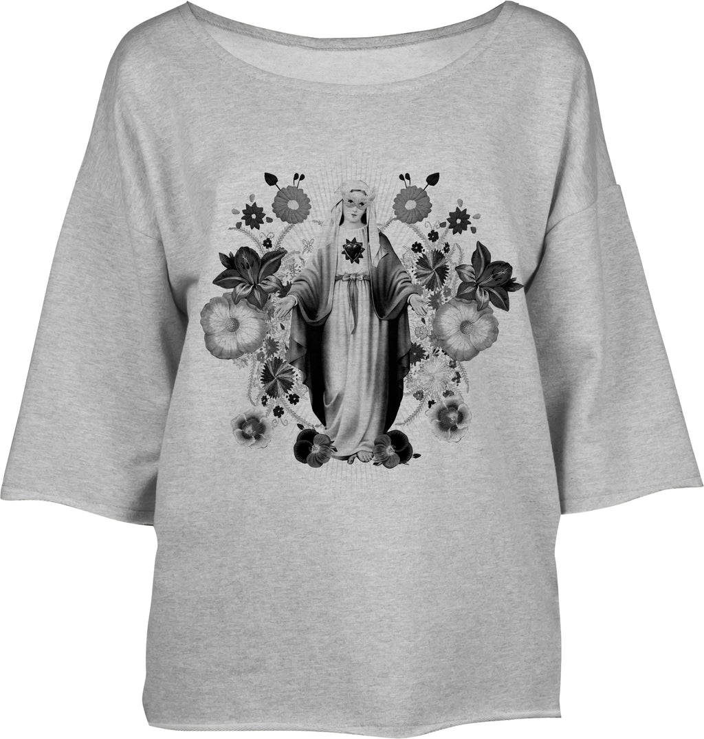 Sweat Ample Vierge Gris