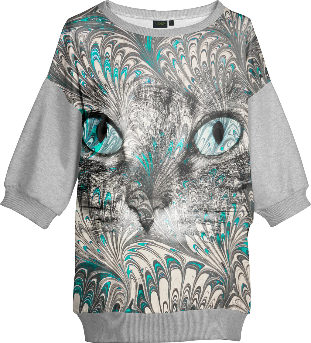 Sweat Large Marbre Chat