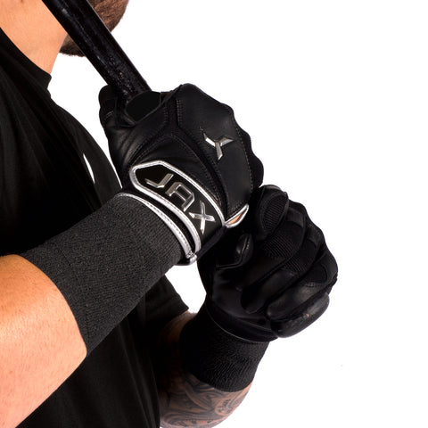 Youth Black JAX 2.0 Batting Gloves