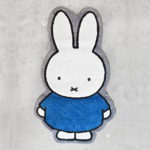 Miffy Blue Dress Rug - Zigzagme