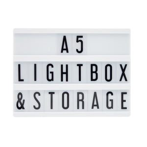 A5 Message Lightbox Black - Zigzagme