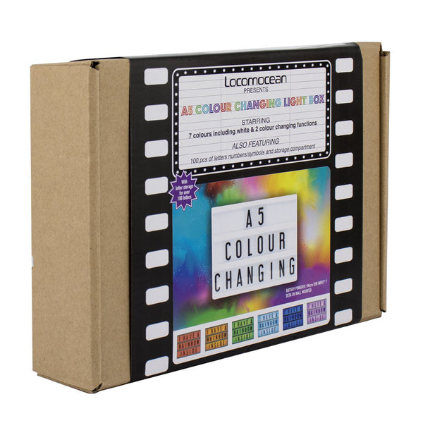 Locomocean A5 Colour Changing Message Lightbox - Zigzagme