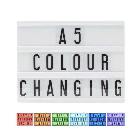 A5 Colour Changing Lightbox