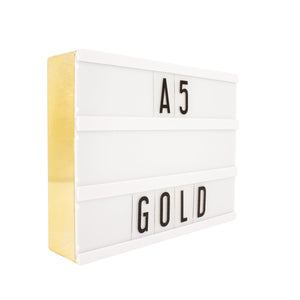A5 Message Lightbox Gold - Zigzagme