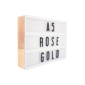 A5 Message Lightbox Rose Gold