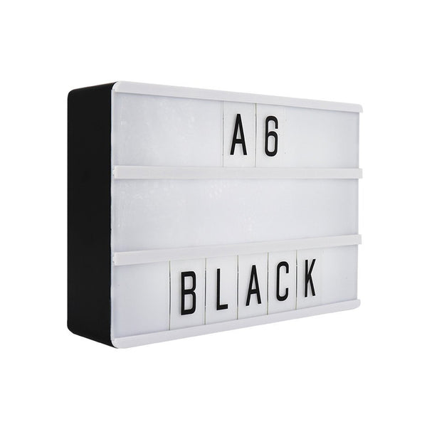 A6 Magnetic Lightbox Black