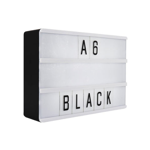 A6 Magnetic Lightbox Black - Zigzagme