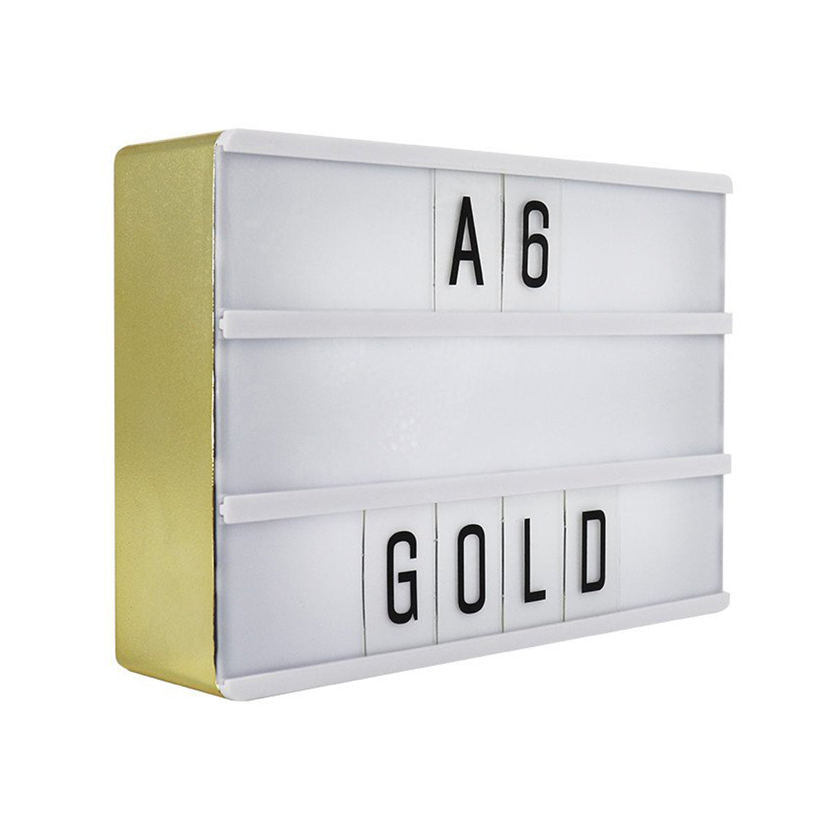 A6 Magnetic Lightbox Gold - Zigzagme