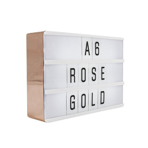 A6 Magnetic Lightbox Rose Gold - Zigzagme