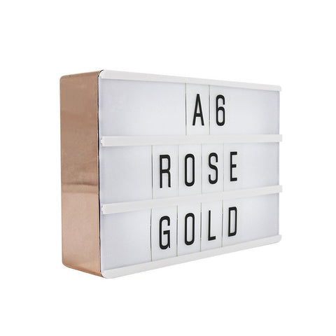 A6 Magnetic Lightbox Rose Gold