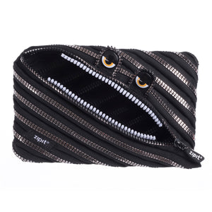 Monster Jumbo Pouch Black & Silver - Zigzagme
