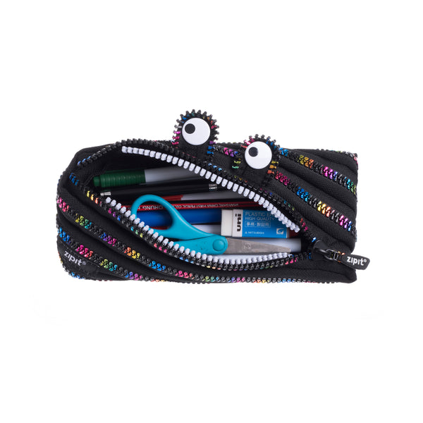 Monster Pouch Black & Rainbow - Zigzagme