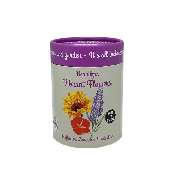 Canister Collection - Flowers (Nasturtium, Sunflower, Lavender)