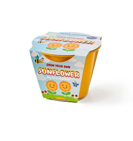 Kids Biodegradable Pot - Sunflower - Zigzagme
