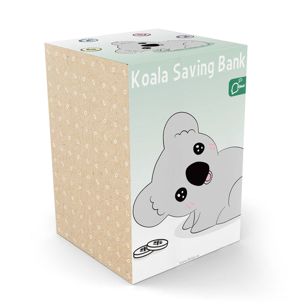 Dhink Grey Koala Savings Coinbank