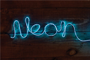 Make Your Own Neon Light Blue - Zigzagme