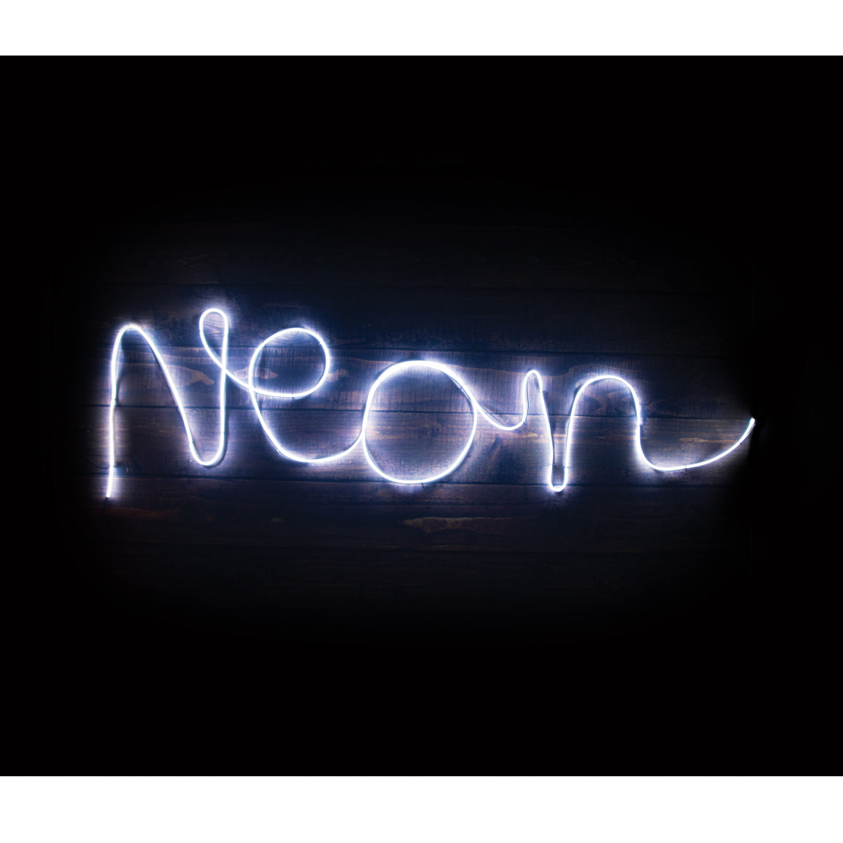 Make Your Own Neon Light White - Zigzagme