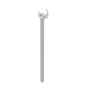 Metalmorphose Beautiful 3D Chrome Narwhal Bookmark