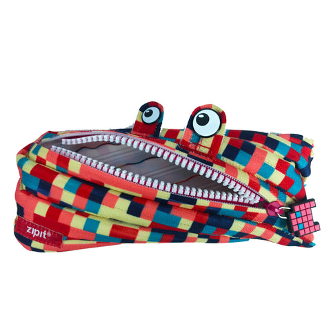 Pixel Monster Pouch Blue & Red - Zigzagme