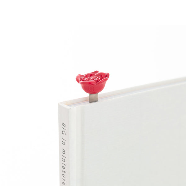 Bookmark Heart in Red Rose - Zigzagme