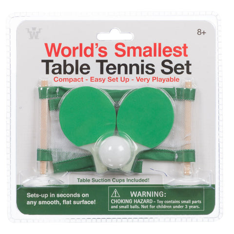 World's Smallest Table Tennis