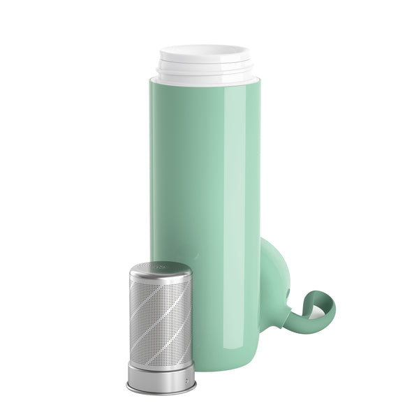 Water Logo By Artiart - Suction Cloud Thermal Bottle Green - Zigzagme
