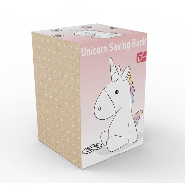 Dhink White Unicorn Savings Coinbank