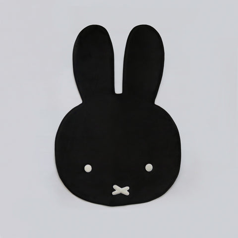 Miffy Head Rug Black