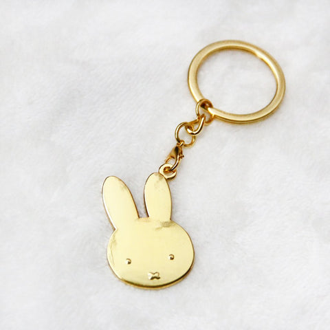 Miffy Badge Keychain - Gold - Zigzagme