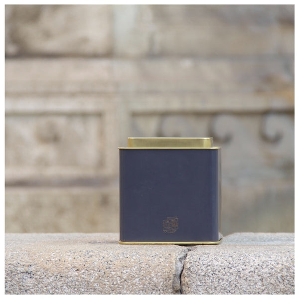 TEA CADDY TIN | Signature French Blue - Ari & May Fine Tea Co.
