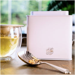 TEA CADDY TIN | Ivory