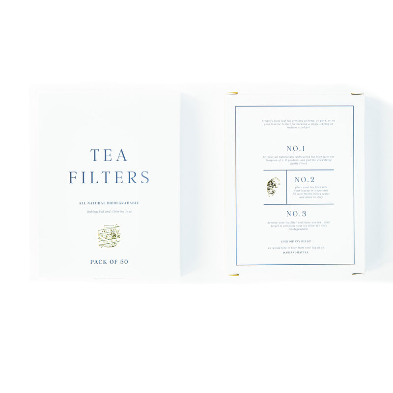 TEA BAG FILTERS | Box of 50 - Ari & May Fine Tea Co.