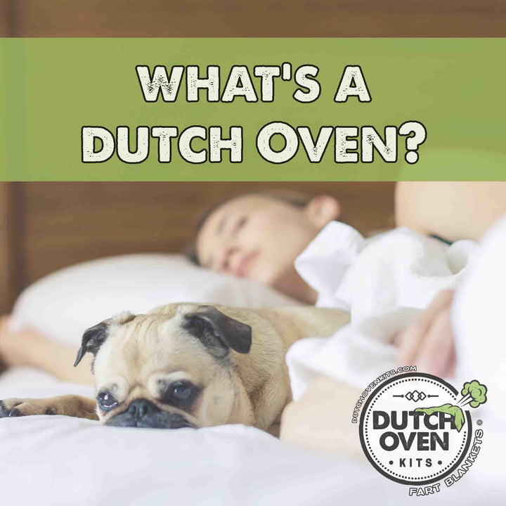 What's a Dutch Oven? Cover - Picture of a dog Farting Under a Blanket