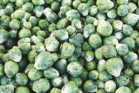 Picture of Foods That Cause Gas - Large quantity of Brussels Sprouts