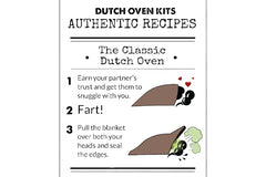 Whats a Dutch Oven Kit? Picture of a Recipe Card