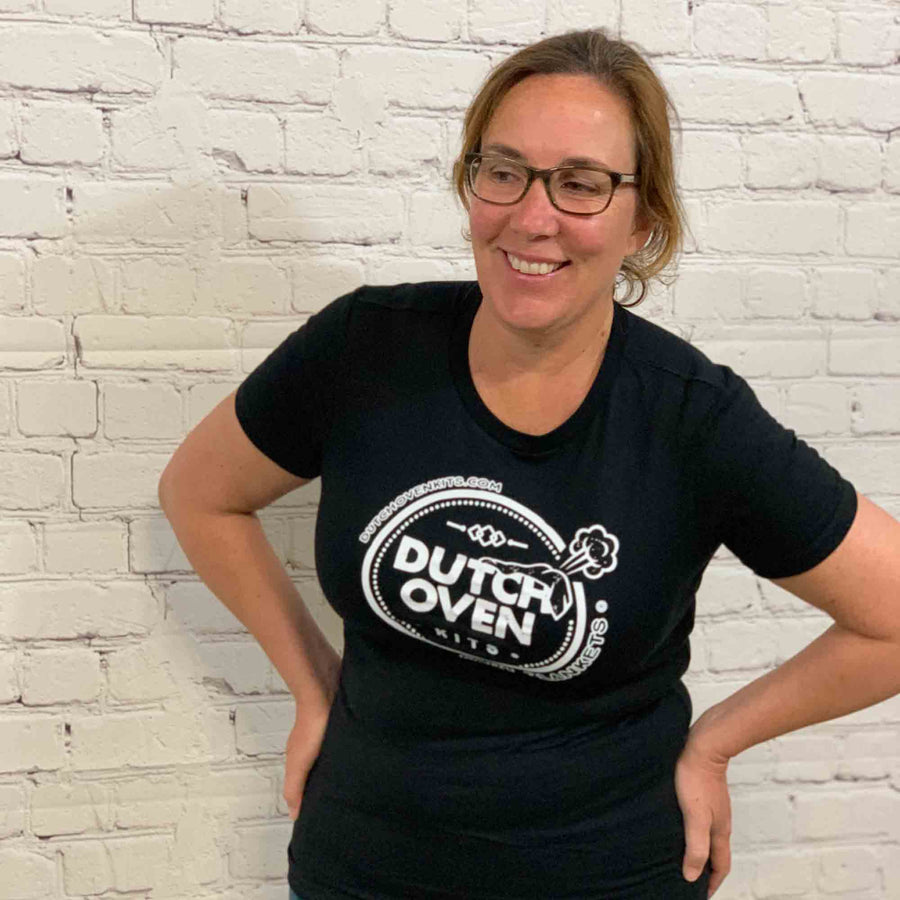 dutch oven kits fart t shirt on a woman
