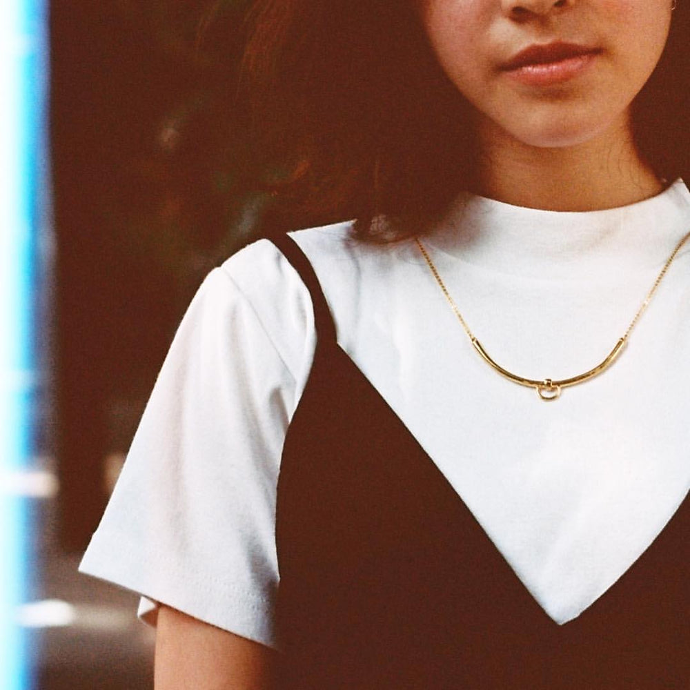 Line Necklace - Gold