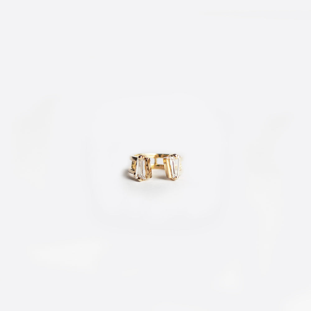 ii Ring - White Quartz - Gold