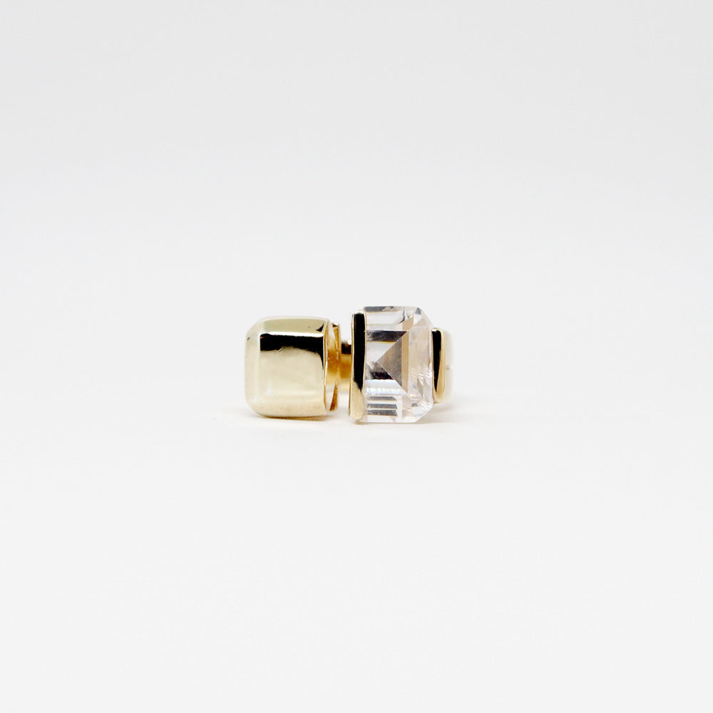 Juxtapose Ring - White Quartz - Gold