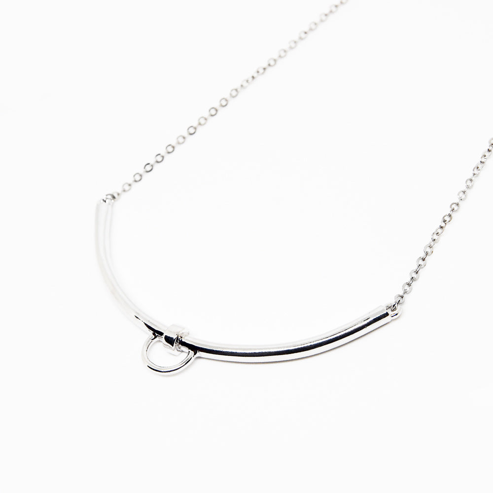 Line Necklace - Silver