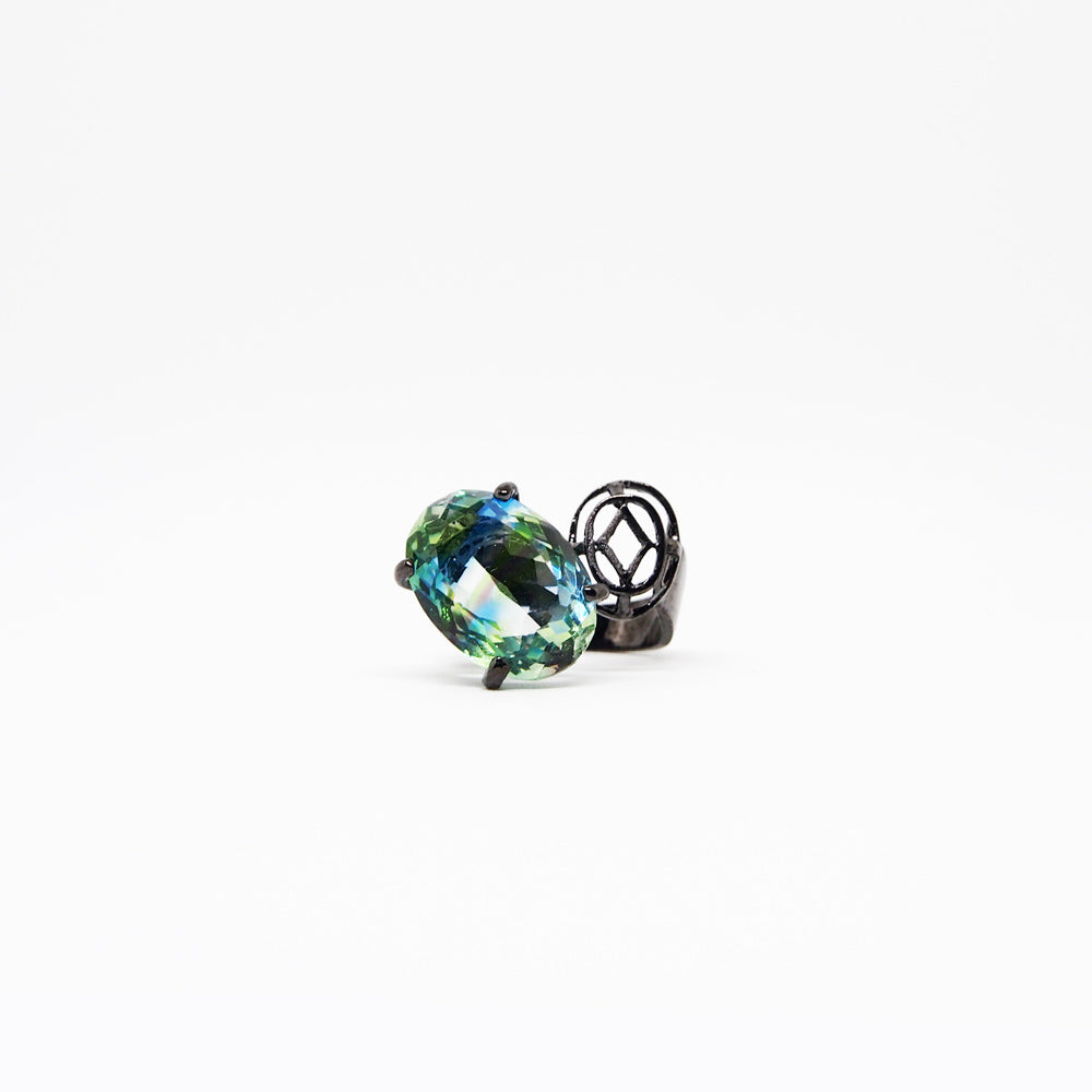Oval Ring - Multi-colors - Black