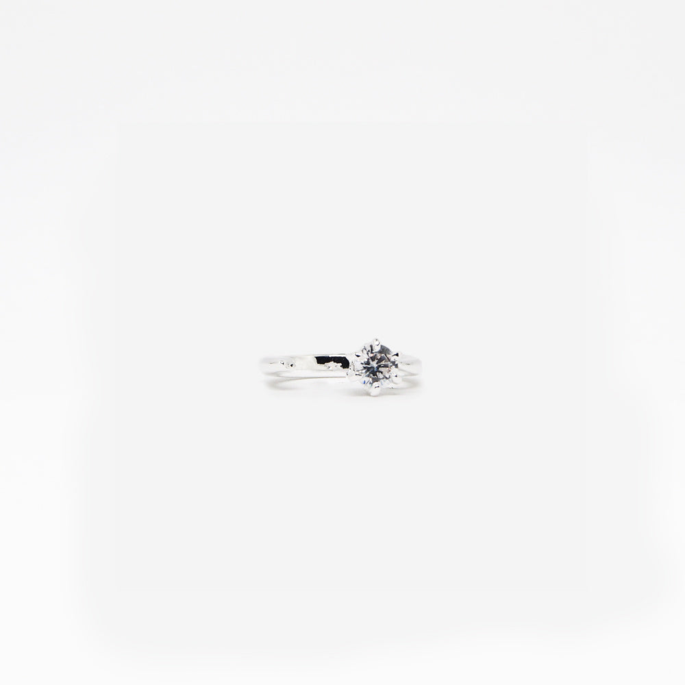 Promise Ring - White Quartz - Silver