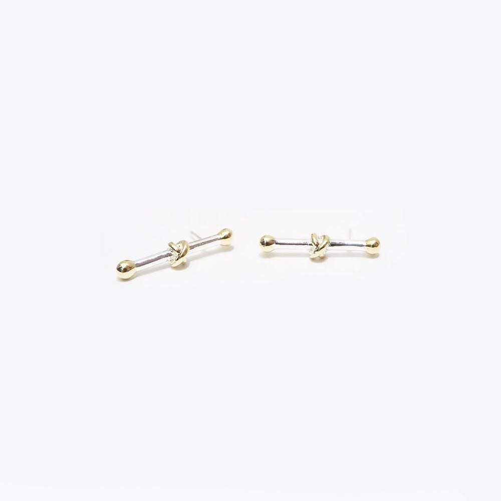 Thomas Earrings - Silver/Gold