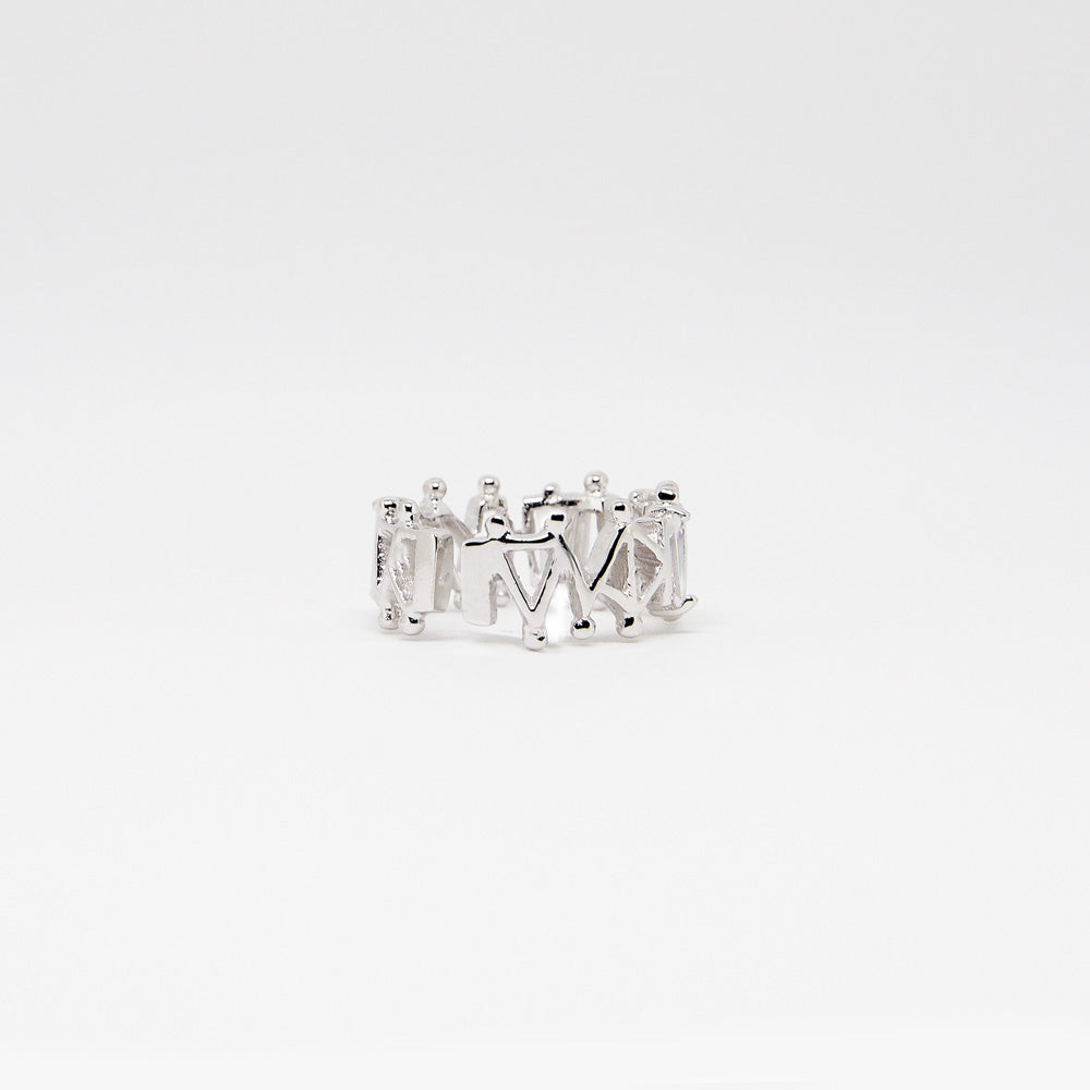 IV Ring - White Quartz - Silver