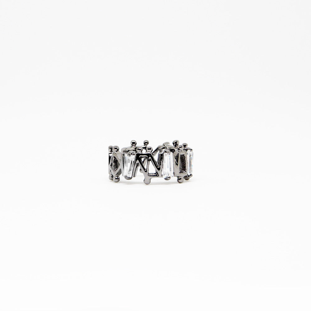 IV Ring - White Quartz - Black