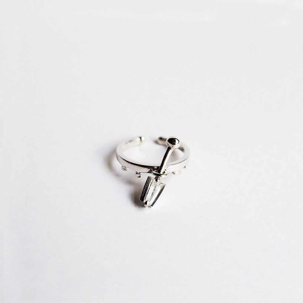 i Ring - White Quartz - WhiteGold
