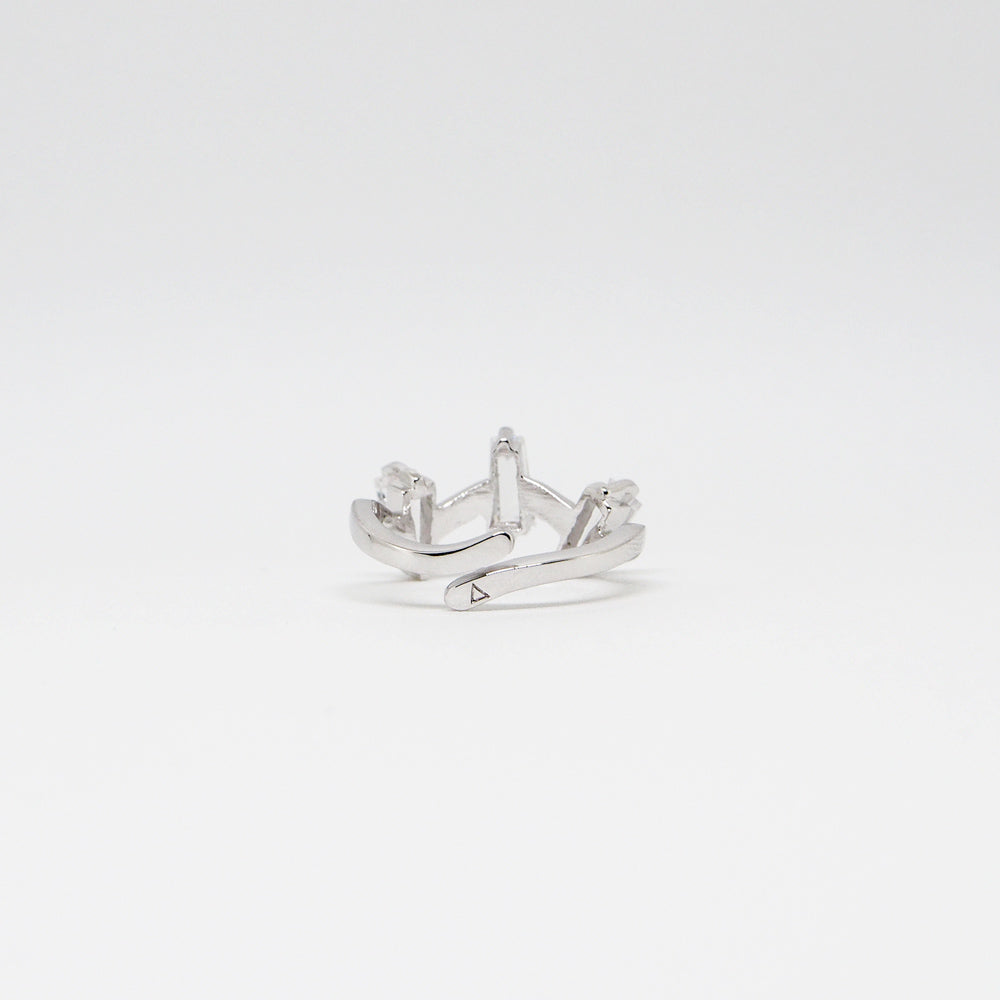 III Ring - White Quartz - Silver