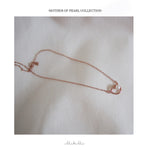 Mother of pearl Necklace - Rose Gold