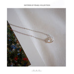 Mother of pearl Necklace - Silver